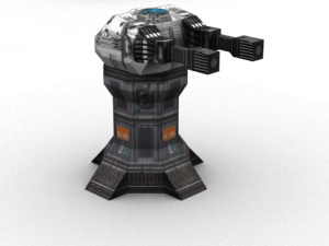 Turret with twin pulse laser
